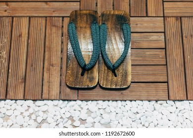 Japanese hibiscus slippers