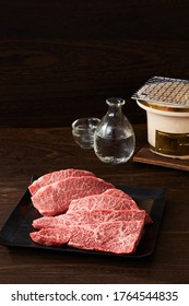 Japanese high-class meat on a plate