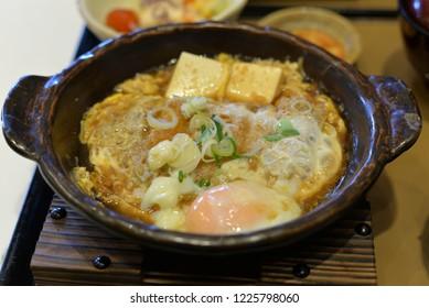 Japanese Hot Plate, Miso, Katsu, Egg