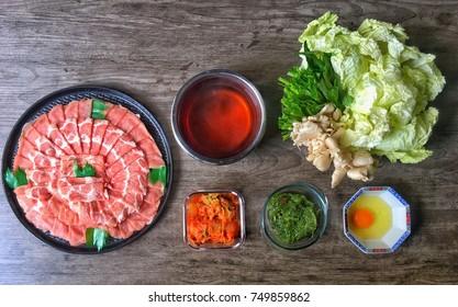 Japanese hotpot (shabu shabu) set