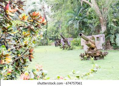 japanese imperial artillery in jungle solomon islands