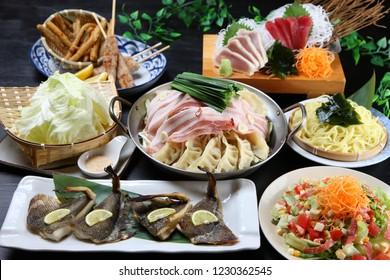 Japanese IZAKAYA cuisine gathering