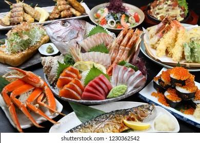 Japanese Izakaya dishes gathering