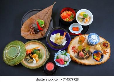 Japanese Kaiseki Seasonal Food Menu Dishes