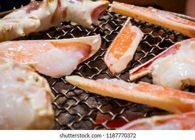 Japanese Kani Crab leg on BQQ griller closed up
