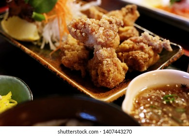 Japanese Karaage Fried Chicken Set Meal