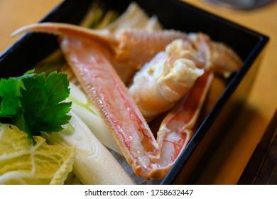 Japanese king crab (taraba) sashimi