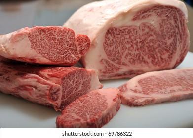 Japanese Kobe beef lump