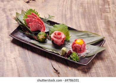 Japanese Kobe beef of raw