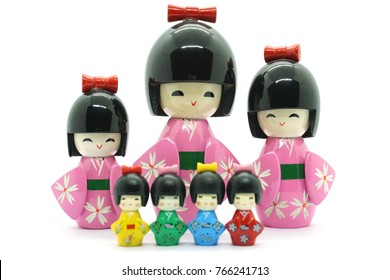 Japanese kokeshi dolls (made from wood)