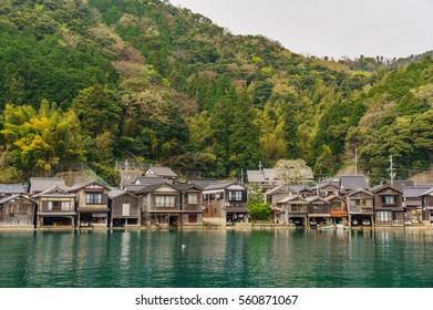 japanese landscape - ine no funaya - ine - kyoto