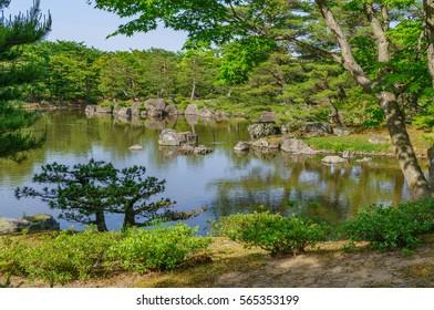 japanese landscape - jorakuen - fukushima