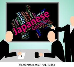 Japanese Language Representing Translator Wordcloud And Words