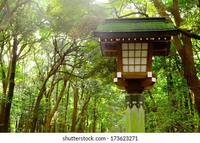 Japanese lantern in park