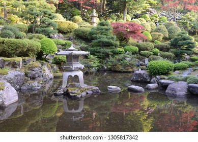 Japanese lantern in the pond