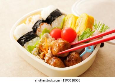 Japanese lunch box for children.