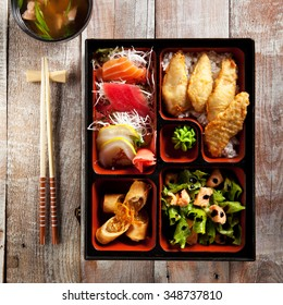 Japanese Lunch Box with Soup Bowl