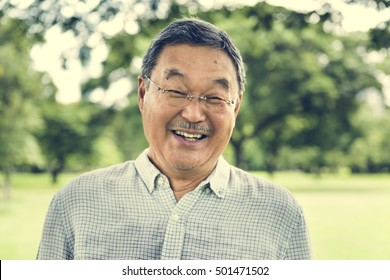 Japanese Man Smiling Lifestyle Happiness Concept