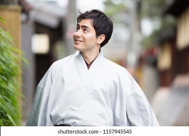 Japanese men of kimono