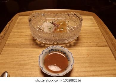 Japanese Michelin Star Kaiseki Restaurant-Sashimi and sushi fish
