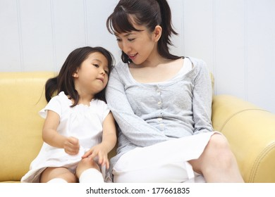 Japanese mother and daugther