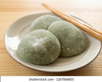 Japanese Mugwort Rice Cake
