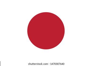 Japanese national flag of Japan