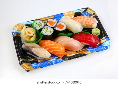 Japanese Nigiri Sushi Bento Box To Go