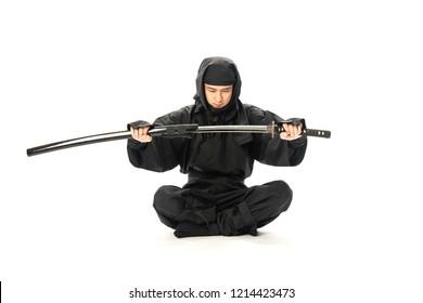 Japanese Ninja concept. Harakiri.