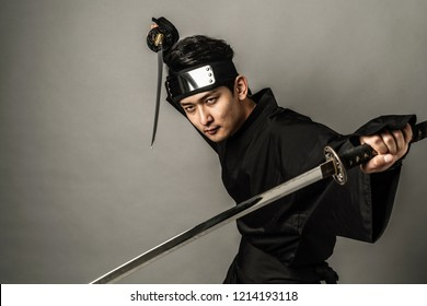 Japanese Ninja concept. Samurai.