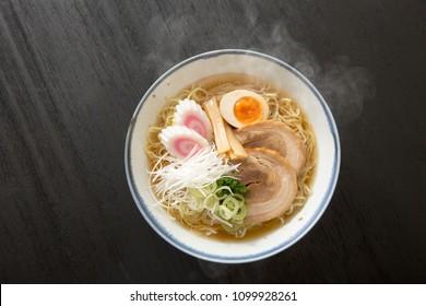 Japanese noodles, salt noodles, soy sauce ramen
