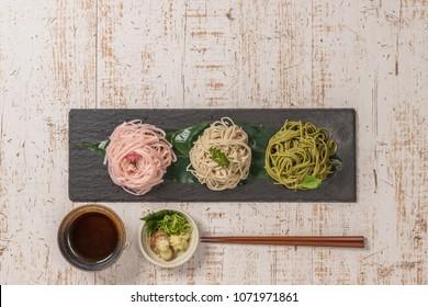 Japanese noodles(soba buckwheat noodle)