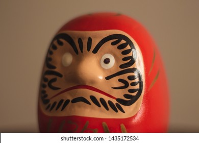 Japanese object called Daruma, has one eye painted because someone made a wish, if it is fulfilled, will have to paint the other eye