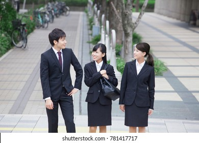 Japanese office workers