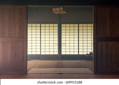 Japanese old house. Indoor.