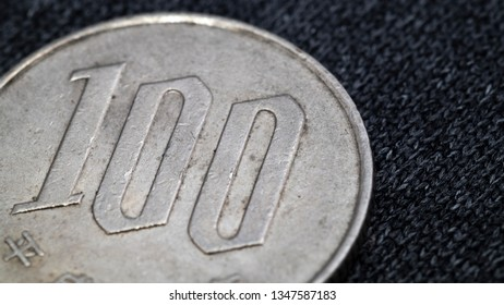 japanese one hundred yens coin