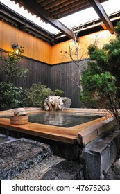 Japanese open air spa