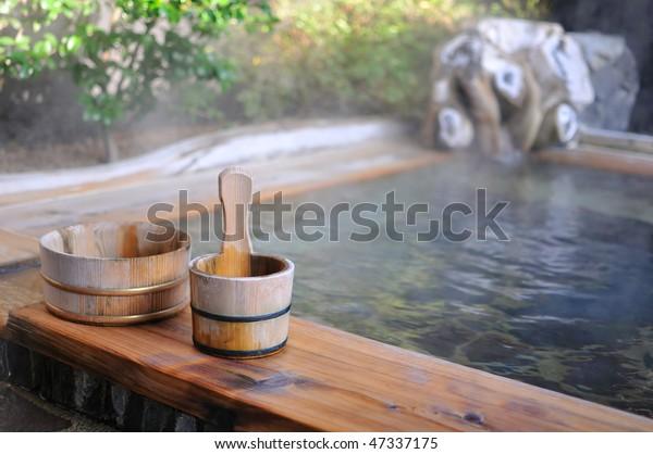 Japanese open air spa