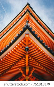 Japanese Pagoda in Kyoto, Japan detail photography