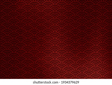 Japanese paper of red and black