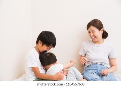 Japanese parent and child