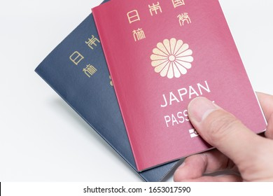Japanese passport for 5 and 10 years, image of business trip and travel