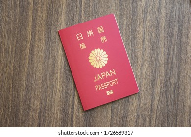 Japanese passport on the table