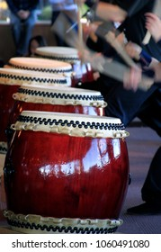 Japanese performers and traditional Taiko drums