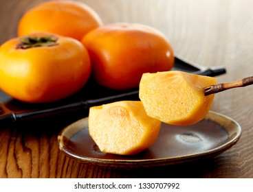 Japanese persimmon, which is referred to as the Tone persimmon