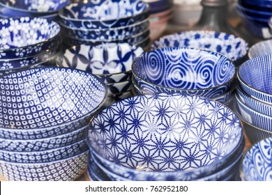 Japanese porcelain pottery blue and white