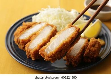 Japanese pork cutlet Tonkatsu