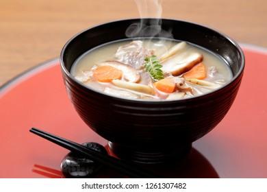 japanese pork miso soup