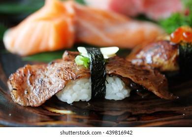 Japanese premium matsusaka wagyu sushi Toroto sushi, Ekamai, Thailand
