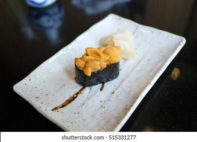 Japanese premium uni sushi Toroto sushi, Ekamai, Thailand